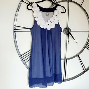 Anthropologie CA shift dress with rosette details